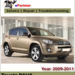 Toyota Rav4 2009 2010 2011 Service Repair Workshop Manual
