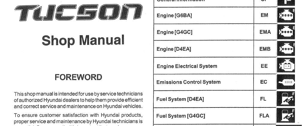 hyundai tucson 2006 2007 2008 workshop service repair manual. Black Bedroom Furniture Sets. Home Design Ideas