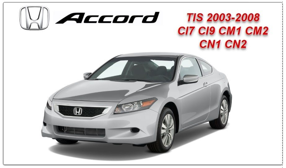honda accord tis 2003 2008 workshop service repair manual. Black Bedroom Furniture Sets. Home Design Ideas