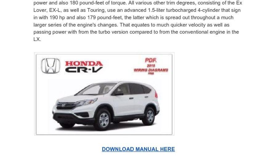 Honda CRV 2015 Wiring Diagrams Service Manual
