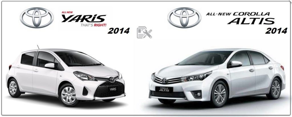 Toyota Yaris 2014 & Corolla Workshop Repair Manuals